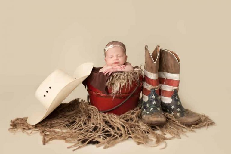 Emily Robin Photography. Wyoming Newborn photography. Montana newborn photography. Fine art newborn portraiture. Premier Newborn Photography. Cowgirl newborn. Rodeo baby.